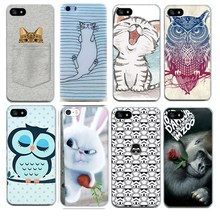 Soft ThPhone Bags For Iphone 7 7 Plus Case Animal Cat Silicon Shell Capa For Apple Iphone7 Plus 6S 5 5S SE Cases