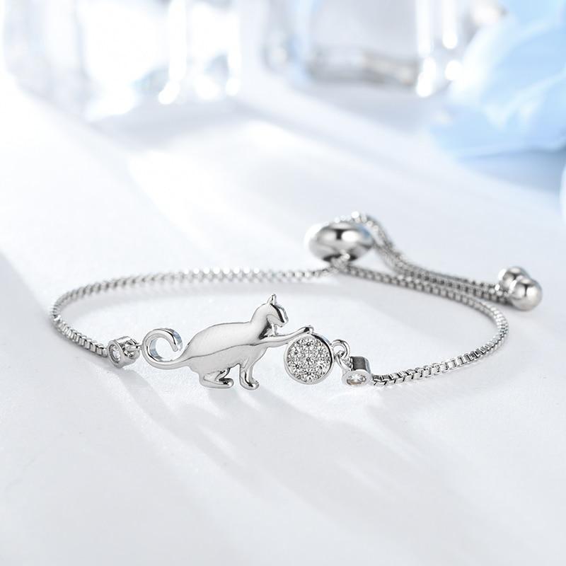 Cat and Ball charm Bracelets