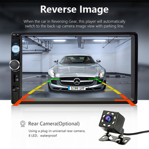 """Image 2 - Jansite 7"""" FHD 1080P Car Radio MP5 player Digital Touch screen Bluetooth Mirror link two din car autoradio Support Backup camera"""