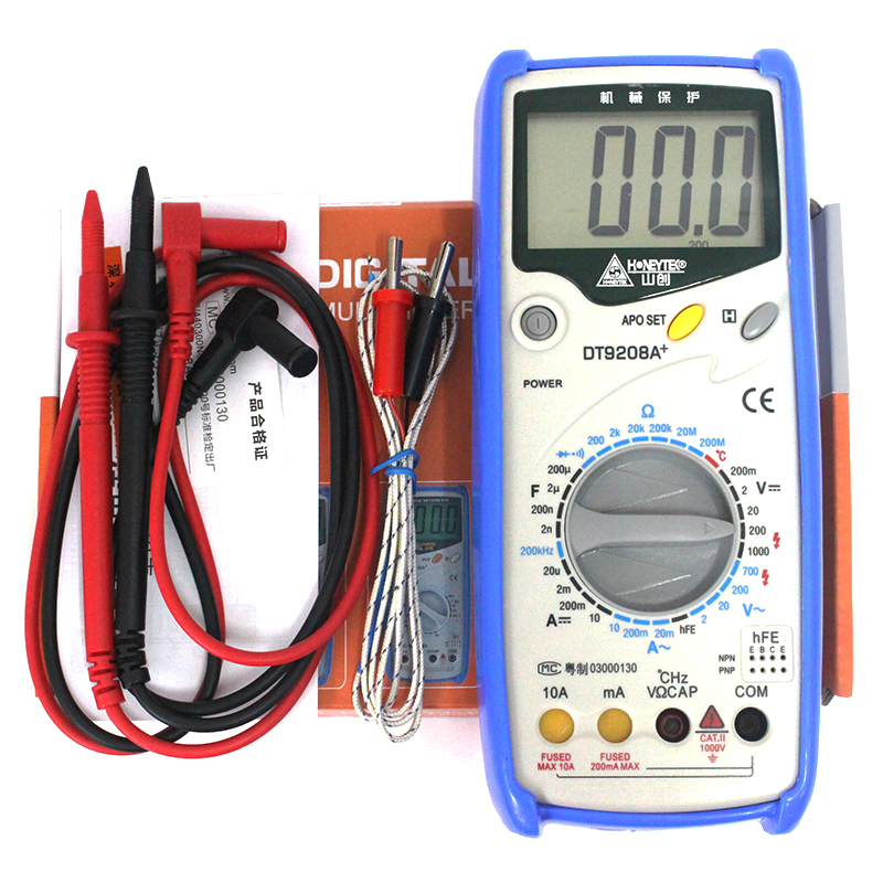LCD Display Professional Handheld Voltmeter Ammeter Ohmmeter Capacitance Meter Temperature Tester Digital Multimeter f47n multimeter pointer mechanical capacitance meter ammeter voltmeter pocket