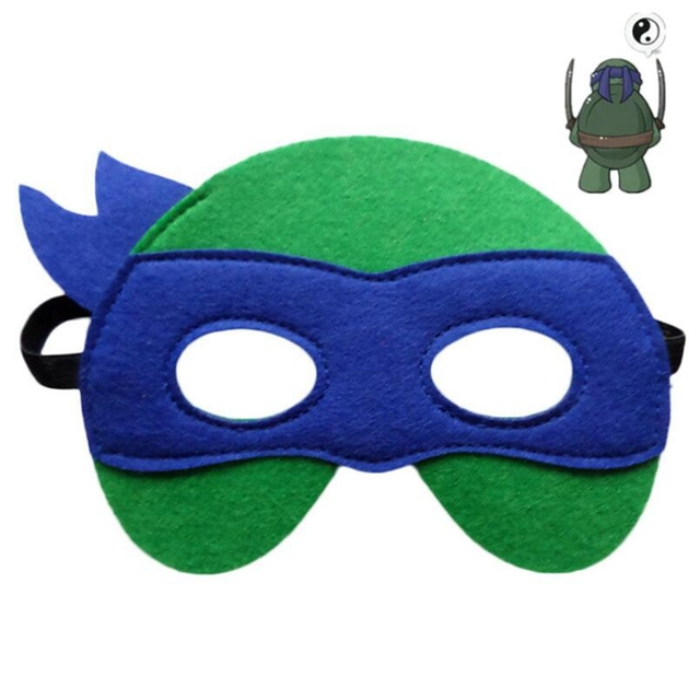 GNHYLL Ninja Turtles Mask Captain America Teenage Mutant Ninja Turtles The Avengers Kid Birthday Gift Cosplay Party Masks 4