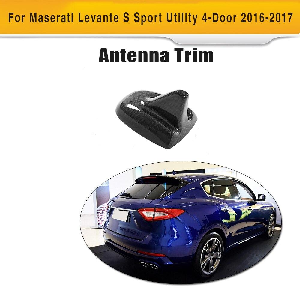 En Fiber De carbone De Voiture Toit Aileron de Requin Décoration Antenne Garnitures Extérieures pour Maserati Levante S Sport Utility 4 Portes 2016 2017