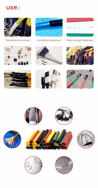 385pcs 2:1 White Heat Shrink Wire Wrap Tube Assortment Assorted Sleeve 9 Sizes