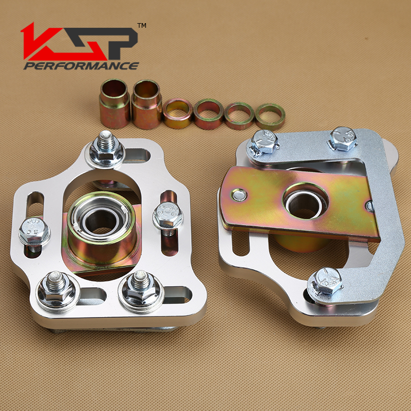 Kingsun Front Camber Caster Coilovers Alignment Kit Plate For Ford Mustang 79-89 Adjustable Steel for bmw 3 series e36 318 328 323 325 front coilover strut camber plate top mount green drift front domlager top upper mount