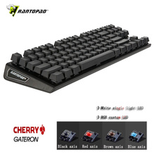 Rantopad MXX Cherry/GATERON Mechanical Gaming Keyboard 87-Key Deluxe Edition 4 Axis Aluminum Cover White Single-Color RGB  LED