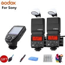 Godox V350S TTL HSS 1/8000s Camera Flash Speedlite Built-in Li-ion Battery + Xpro-S Transmitter for SONY A7R A7RII A99 A6500 A58 godox v350n mini flash ttl hss 1 8000s 2 4g x system built in 2000mah li ion battery camera speedlite flash for nikon camera