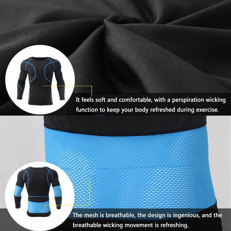 Uomini di Sport Invernali In Pile Termico Biancheria Intima Sudore Tre-piece Suit Asciugatura Rapida Biancheria Intima Termica di Inverno degli uomini di Sport si adatta alle