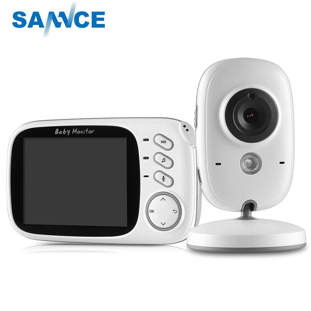 SANNCE De Sécurité À La Maison Bébé Moniteur 3.2 pouces Affichage Caméra de Vision Nocturne Sans Fil Mini Caméra de Surveillance Caméra de Vision Nocturne