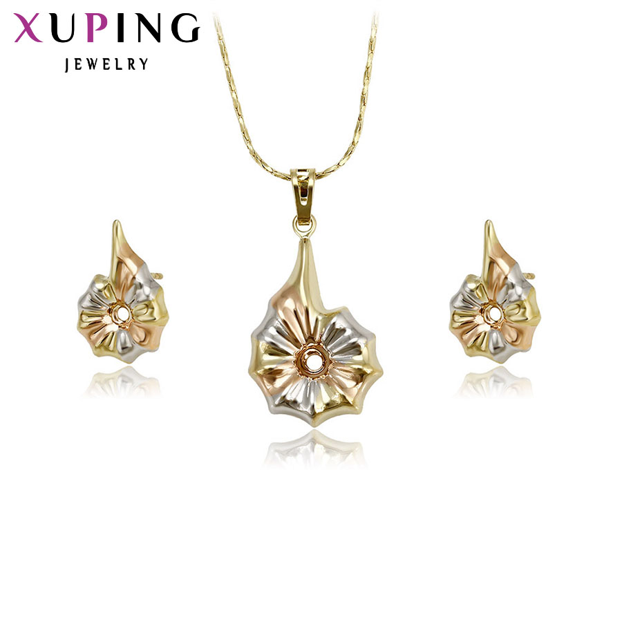 67cb63ea2 Xuping Fashion Sets 2017 New Arrival Luxury Style Jewelry Sets Multi-color  Plated Women Party Promotion Gift 63154