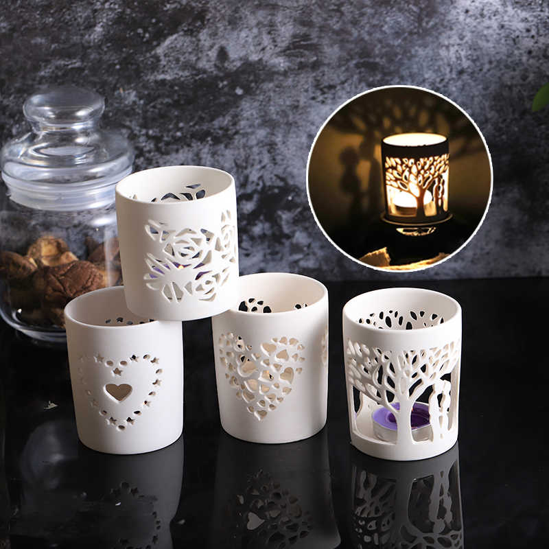 Matte White Pottery Votive Tealight Ceramic Candle Holder Porcelain Candle Jar Holiday Decor Propose Marriage Valentine S Day Ceramic Candle Holder Candle Jarceramic Tealight Candle Holders Aliexpress