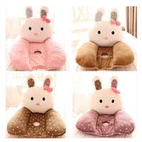 Free Shipping Plush Cartoon Rabbit Lumbar Support Nice Soft Bottom Cushion Pillow Matress Birthday Gift Female