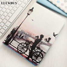 LUCKBUY New for Apple iPad 5 Cases Covers Silk Design Cats Stand Wallet Flip PU leather +Silicon Case For Ipad Air 1