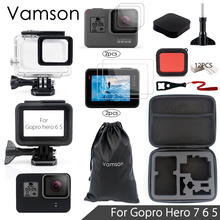 Vamson для Gopro hero 7 6 5 набор аксессуаров Sreen Portector/защита объектива водонепроницаемый корпус чехол для Go pro hero 6 5 VS05C