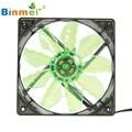 Caliente-venta BINMER 4 Pin Ordenador Ventilador 120x120x25mm Verde Quad 4-LED Luz de Neón Transparente 120mm Ordenador PC Ventilador de Refrigeración Caja de Mod