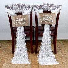 OurWarm 35*300 см белые кружевные ленты для свадебных стульев бант свадебное украшение для стульев банкетное оформление места Романтическая свадьба
