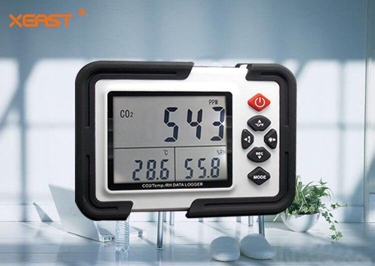 HT-2000 9999ppm Digitale Metro CO2 Analizzatore Rivelatore di Gas Monitor di CO2 CO2 Analizzatori di Temperatura Tester di Umidità Relativa
