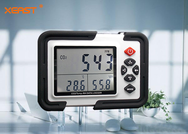 HT-2000 Digital CO2 Meter Detector 0~9999ppm Monitor Data Logger Carbon Dioxide//Temperature//Humidity Air Quality Monitor Meter