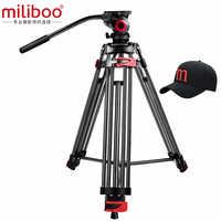 "Miliboo MTT602A profesional portátil de aluminio Fluid Head Cámara trípode para videocámara/DSLR Stand Video trípode 76 ""Max Height"