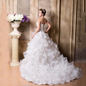 Image 3 - Бальное кружевное платье, женское свадебное платье с оборками