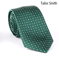 Tailor Smith Designer Green Polka Dot Necktie Luxury Mens Natural Pure Silk Business Wedding Party Suit Tie Top Quality Neckwear