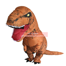 T-REX Inflatable Dinosaur Costume for Adult Men Women Big Dragon Blowup Fancy Dress Outfit Halloween Costumes Christmas Outfit