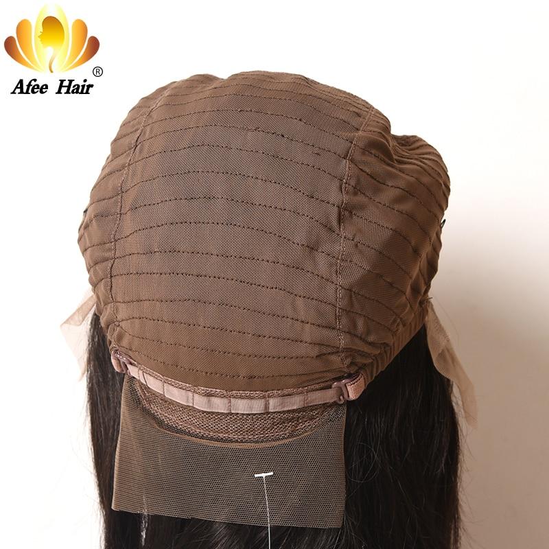 AliAfee Hair 150% Περούκα Πυκνότητας - Ανθρώπινα μαλλιά (για μαύρο) - Φωτογραφία 5
