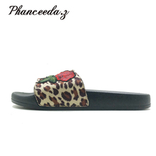 Nowy 2019 obuwie damskie sandały Sandalias Mujer lato styl modne klapki jakości mieszkania solidna kobieta kapcie rozmiar 4