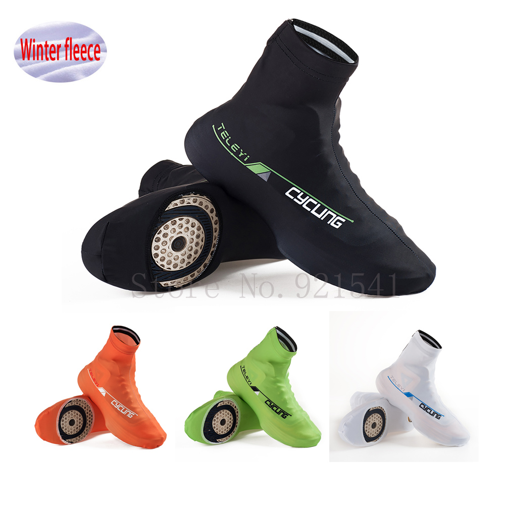 2017 Winter Fleece Thermal Bicycle Cycling Overshoes Pro Road Racing MTB Bike Cycling Shoes Cover Sports Dustproof Shoes Cover