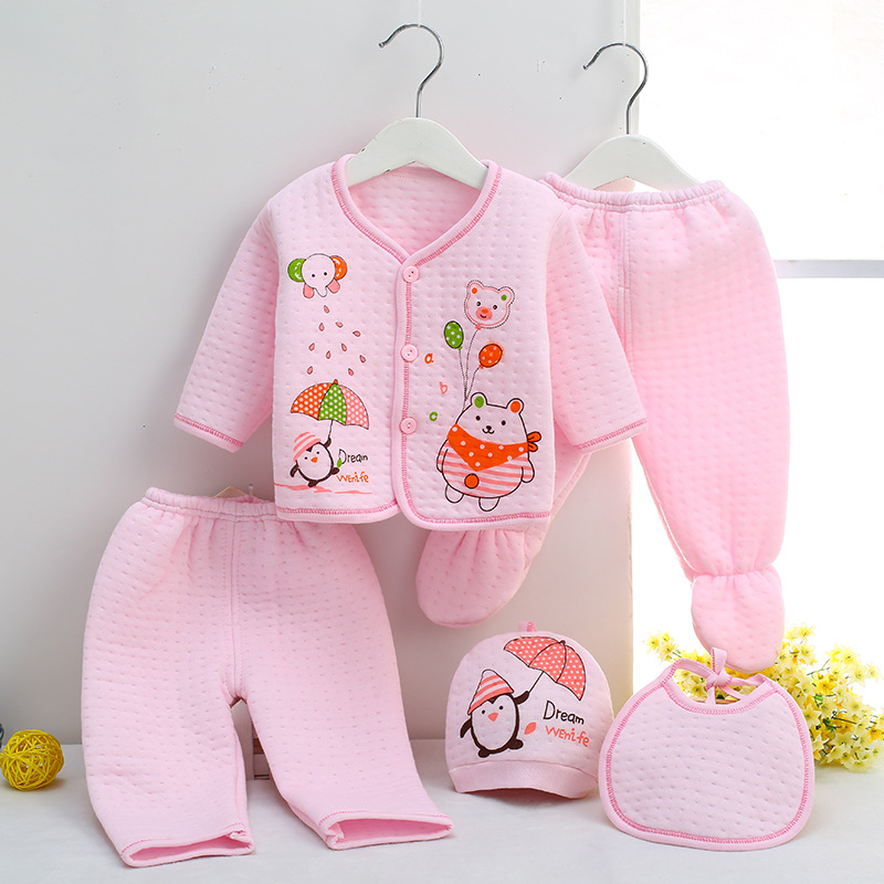 b175210f4 winter Fashion printing Baby Clothing Infant toddler long-sleeved ...