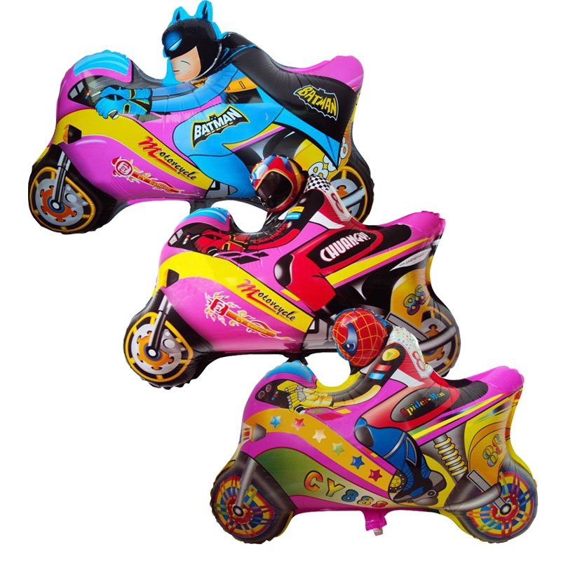 Cartoon motorcycle foil balloons helium balloon globos classic toys inflatable h