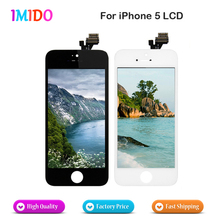 10PCS/LOT Brand New No Dead Pixel All Tested AAA Quality Screen For iPhone 5 LCD Test One By One Fast Shipp цена и фото