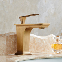 Antique Brass Basin Faucet Single Handle/Hole Bathroom Vessel Sink Faucet Basin Mixer Tap KD1247 free shipping luxury swan design antique brass finish faucet bathroom basin mixer single handle countertop basin tap gi61