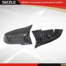 Replacement M3 M4 Style Carbon Fiber Car Side Mirror Cover For BMW 1 2 3 4 X Series F20 F21 F22 F23 F30 F31 F32 F33 F36 X1 E84