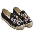 Mujeres de La Manera Zapatos Casuales Rhinestone Alpargatas Planas Marca Otoño/Primavera Mujeres Resbalón En Los Zapatos de Las Mujeres Zapatos Perezosos