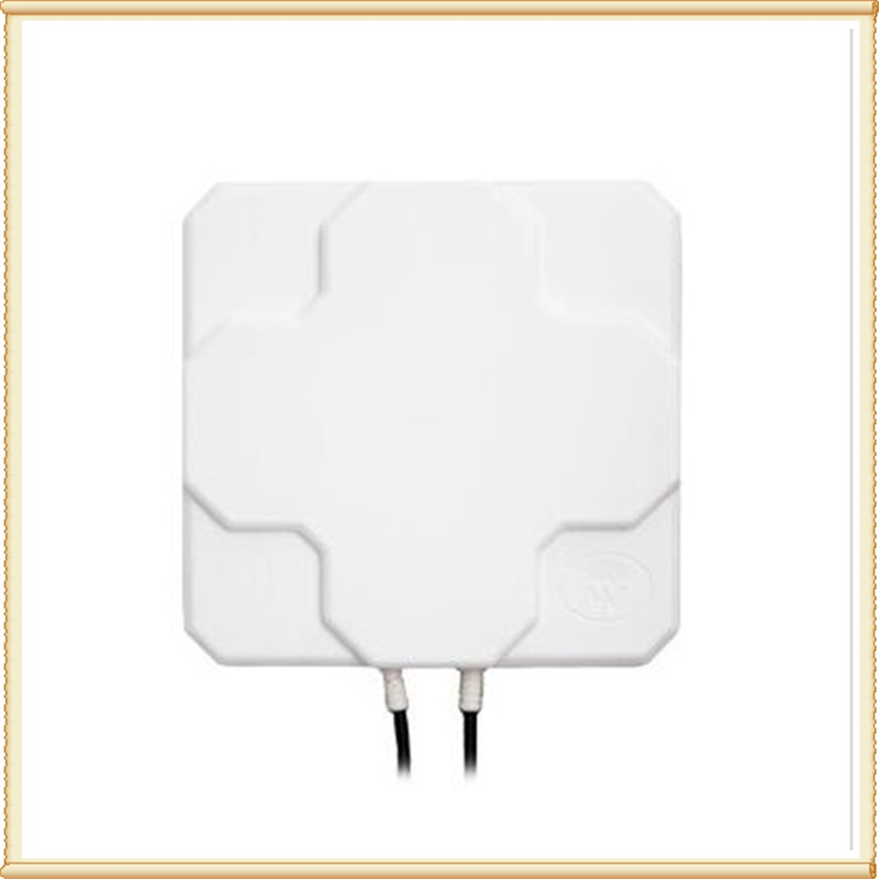 2*22dBi outdoor 4G LTE MIMO antenna,LTE dual polarization panel antenna SMA -Male connector  (white or black) 10 M  cable