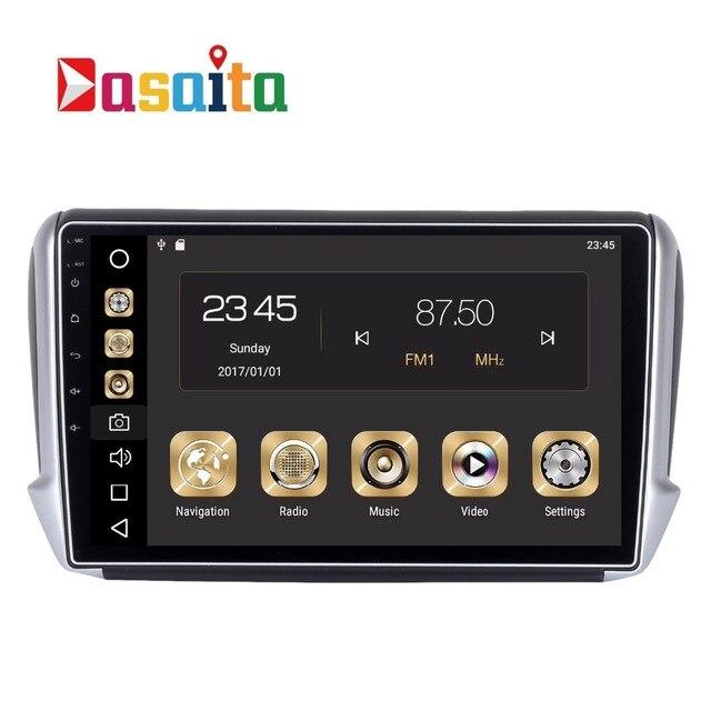 auto 1 din android 8 0 gps f r peugeot 2008 208 autoradio navigation kopfeinheit multimedia 4 gb. Black Bedroom Furniture Sets. Home Design Ideas