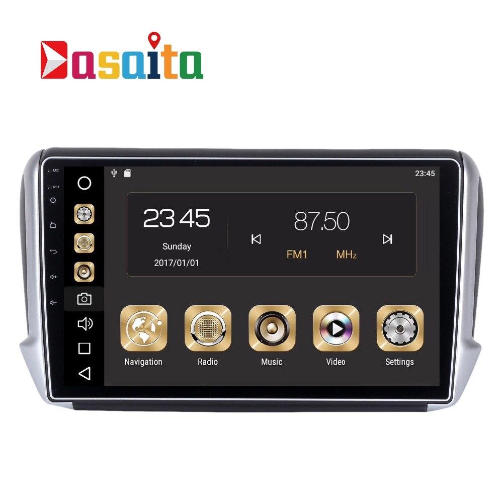 Voiture 1 din Android 8.0 GPS pour Peugeot 2008 208 Autoradio Navigation Tête Unité Multimédia 4 Gb + 32 Gb 64bit Android PX5 Octa-Core