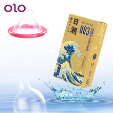 OLO 3pcs/10pcs Ultra Thin Ice feels Adult Products Mint Smell Sex Toys For Men Lubricated Condoms Natural Latex