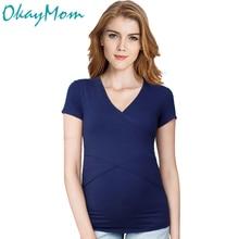 2017 Nyár Euro America Classic Anyasági póló Pamut póló Ruházat terhes nők számára Terhesség Wear Top Tees Ruházat