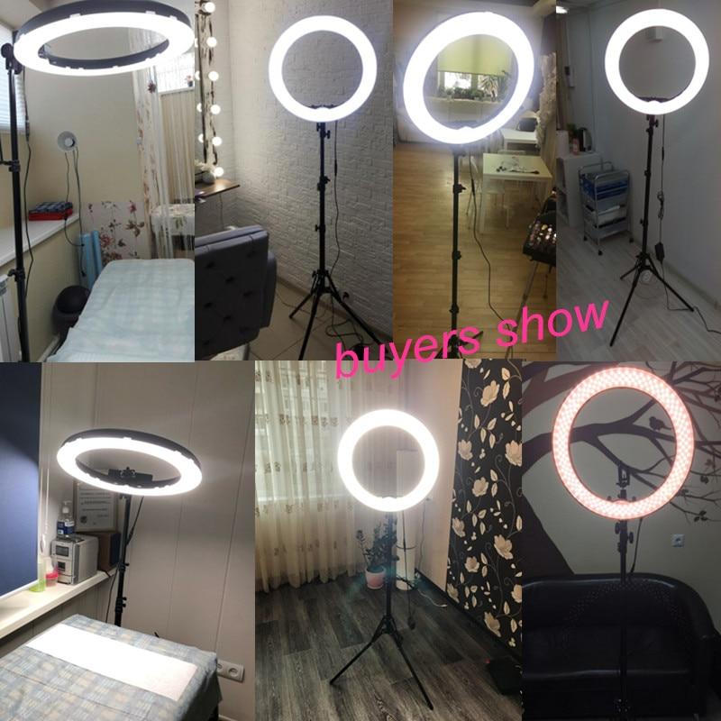 Fotopal Dim LED Fotoğraf Halka Işık Youtube Için Tripod Ayna Ile - Kamera ve Fotoğraf - Fotoğraf 6