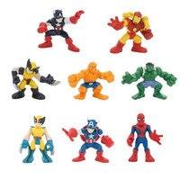 8 Pcs Captain America 3 Hulk Iron Man Action Figurines Set 6cm 2016 New The Avengers