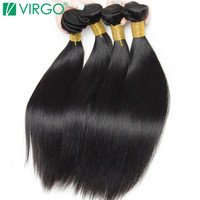 V Only Virgo Hair Products Non Remy Hair Peruvian Straight Hair Natural Black 1B 100 Human