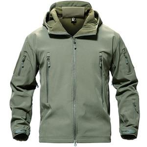 Image 4 - TACVASEN Fleece Tactical Jacket Men Waterproof Softshell Jacket Windproof Hunting  Jackets Hiking Clothes  Outdoor Heated Jacket