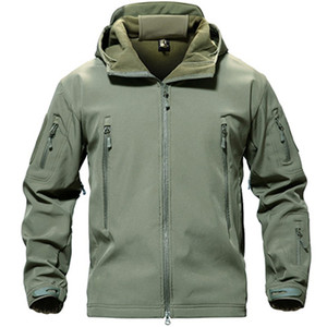 Image 4 - TACVASEN veste tactique polaire pour homme, veste imperméable Softshell, coupe vent, vêtement de randonnée en plein air, chauffant