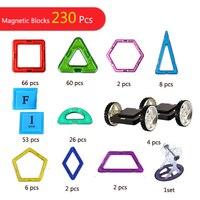 230 шт. Похожие 3D магнитные блоки Строительные наборы игрушки набор Магнитная конструкция строительные магнитные блоки