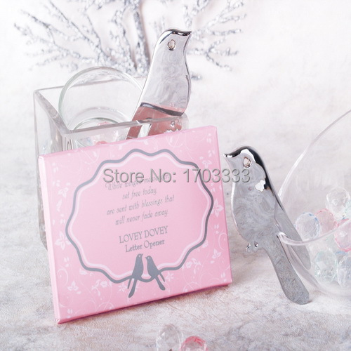 Free shipping 200pcslot wedding favor Love Birds Letter Opener souvenirs for Wedding Party by fedex or DHL