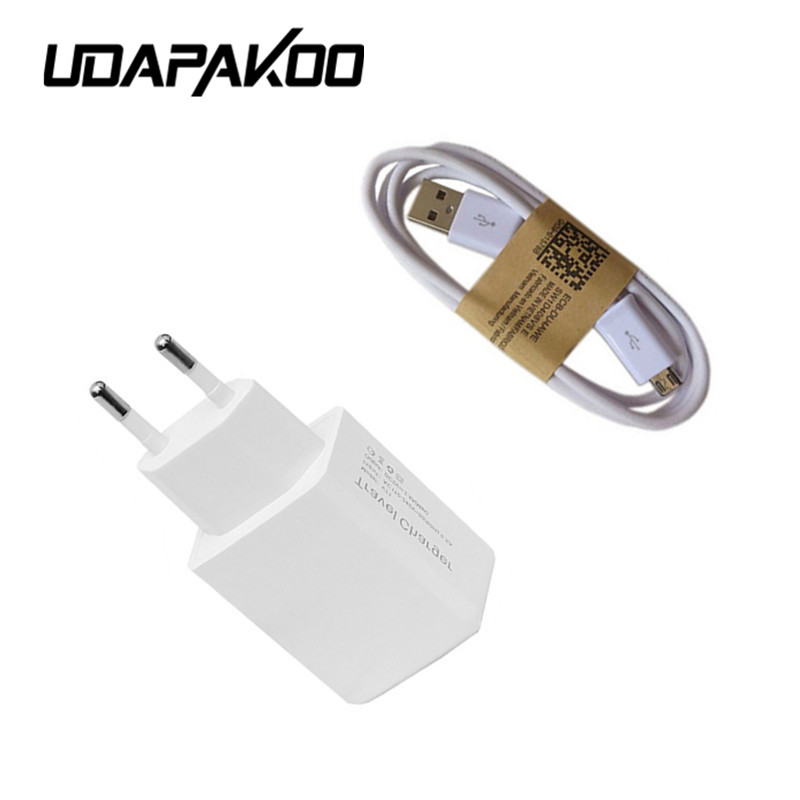 100% Good Adaptive Charging EU/US Plug travel <font><b>Wall</b></font> <font><b>Charger</b></font> adapter + 1m Micro Usb Data Cable for samsung note 5 s6 s7 edge plus