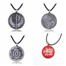 Game Series Fallout 4 Necklaces Pip Boy Cola Fallout Necklace Four Type Metal Pendant For Boys Gift