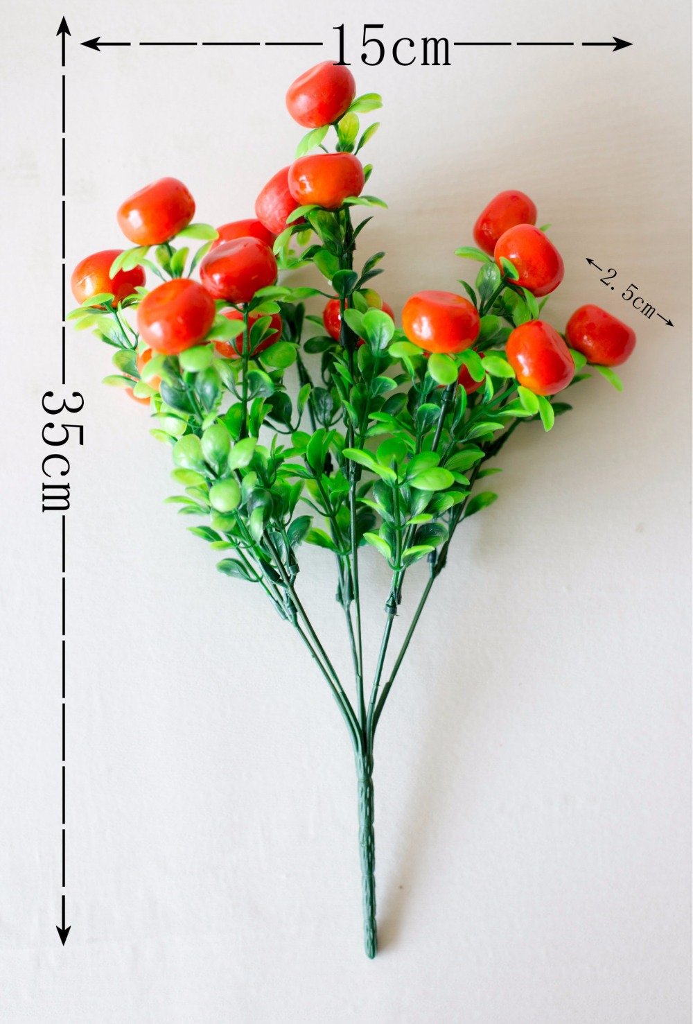 Silk flowers bouquet Artificial fruit orange tree branched about 35cm,home decoration ornament gift a1233