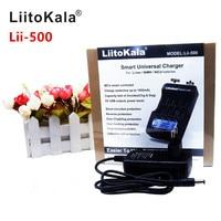 LiitoKala lii 500 LCD 3.7V/1.2V AA/AAA 18650/26650/16340/14500/18500 Battery Charger with screen+12V2A adapter lii500 5V1A